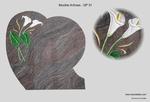 sculpture sur stèle;sculptures sur stèles funéraire;motifs sur plaque de granit;décors sur pierre;motifs sur pierre;funéraire