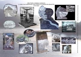 reproduction de motifs et décors sur stèle et plaque funéraire