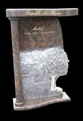 création réalisation de gravure et sculpture sur granite