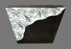 création sur mesure de décors sur stèle en granite