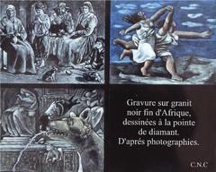 reproduction sur granite de tableaux